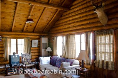 Black Bear Cabin - A Rustic Log Cabin Rental